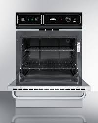 summit ttm7212bkw 24 inch single gas wall oven with electronic
