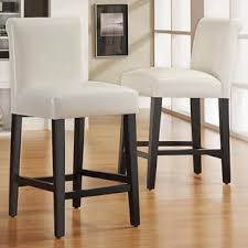 mendoza keyhole counter height high back stool set of 2 by