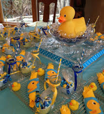Ducky baby shower ideas wall decoration