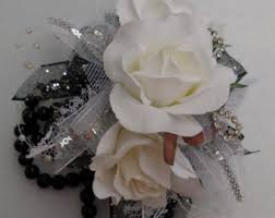 Wrist Corsages For Homecoming Prom Wrist Corsage Etsy