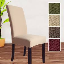 Fabric Dining Room Chair Covers Romanzo High Quality Thick Knitted Fabric Universal Spandex Dining