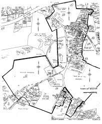 Marian University Map Case U0027s Corner Historic District Weston Ma