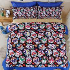Customized Duvet Covers 5d Polyester Skull Printing Duvet Cover Set Bedding Set Pillowcase