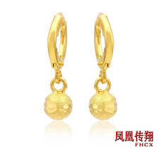 gold earrings for marriage new alluvial gold plated earrings jewelry gold earrings