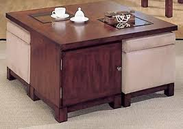 storage square coffee table captivating square ottoman coffee