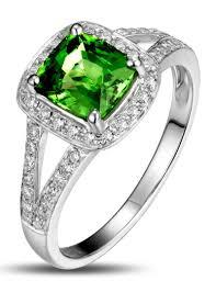 Diamond Cushion Cut Ring Beautiful 2 Carat Cushion Cut Emerald And Diamond Halo Engagement