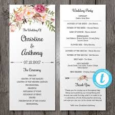 one page wedding program template one page wedding program template one page wedding ceremony