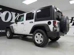 white 4 door jeep wrangler 2017 jeep wrangler unlimited 4x4 4 door suv sport white suv