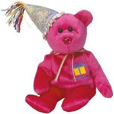 amazon ty beanie baby garnet birthstone teddy happy