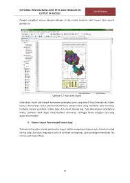 isi layout peta tutorial penyusunan layer peta pembuatan layout di arcgis