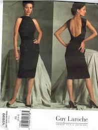 guy laroche designer original evening cocktail dress vogue pattern
