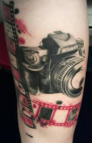 awesome camera and roll tattoo art tattoomagz