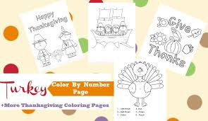 thanksgiving color number turkey coloring pages simple