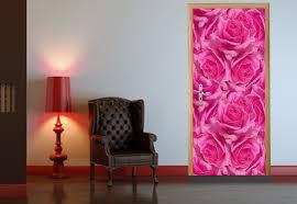 peel and stick door wall mural pink roses rose photo wallpaper wallpapers 019 peel and stick door wall mural pink roses rose photo wallpaper