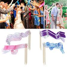 ribbon sticks 10pcs fairy twirling ribbon bell wands wedding party supplies