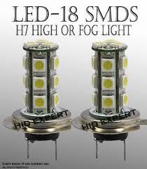 amazon com led h7 18 smd super xenon white high beam drl fog