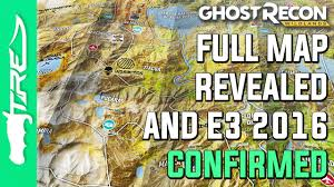 The Ghost Map Ghost Recon Wildlands Full Map Revealed And E3 2016 Confirmed