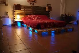 Platform Bed With Lights Queen Bed Frame Pallets Frame Decorations