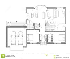 Family House Plans Drawing Single Family House Stock Illustration Image 49918507