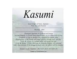 of the japanese name kasumi is mist