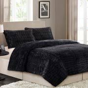 better homes and gardens faux fur bedding comforter set walmart com