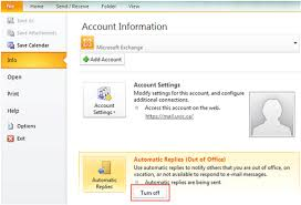 absence bureau outlook disable out of office assistant outlook 2010 and 2013