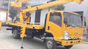 syria 19m isuzu npr aerial bucket crane truck platform working