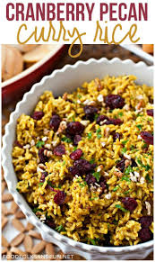 rice for thanksgiving cranberry pecan curry rice u2022 food folks and fun
