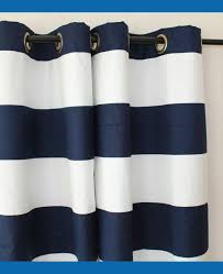 Walmart Navy Blue Curtains by Cool Navy And White Striped Curtains For Your Cozy Interior Rooms