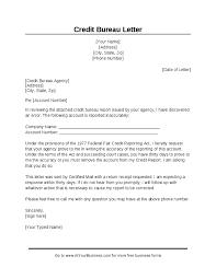 bureau free sle credit bureau dispute letter hashdoc credit repair inside