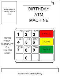 robbygurl u0027s creations diy birthday card atm machine