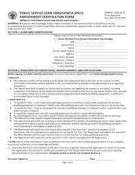 william d ford federal direct loan program doc 728943 service loan forgiveness form service