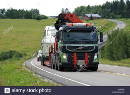 2016 volvo commercial truck salo finland july 8 2016 volvo fm semi boat transport of