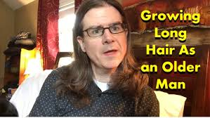 grey hair in 40 s growing long hair as an older man youtube