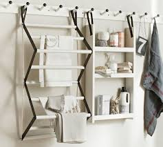 gabrielle system wood drying rack pottery barn