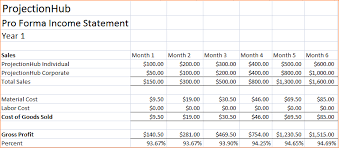 Pro Forma Financial Statements Excel Template 6 Pro Forma Financial Statement Outline Templates