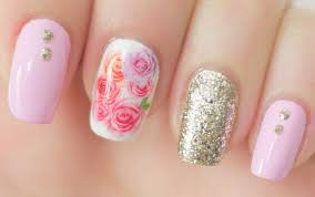 these beautiful rose nail water decals are an easy alternative to