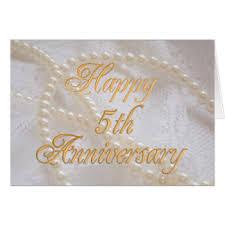 5 wedding anniversary greeting cards zazzle