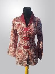 gambar model baju batik modern baju batik muslim sarimbit modern