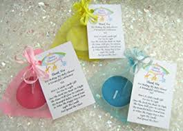 baby shower thank you gifts 10 blue baby shower favours scented candles lovely thank