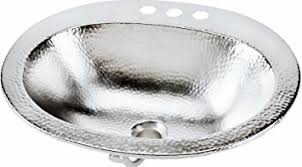 hammered nickel bathroom sink sinkology bod 0903brn dalton drop in handcrafted bathroom sink 20