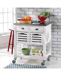 amazing deal linon robbin kitchen island cart white with