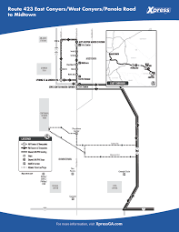 Megabus Route Map by Route 423 U2013 East Conyers West Conyers Panola Road To Midtown Xpress