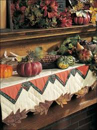 mantel scarf quilting seasonal patterns autumn patterns autumn