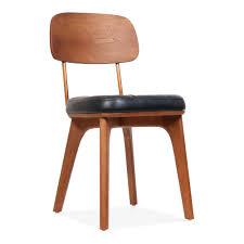 chaise rembourrée chaise rembourrée en bois winchester en noir et noyer cult fr
