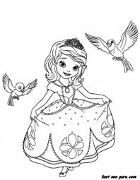 printable disney princesses sofia coloring pages