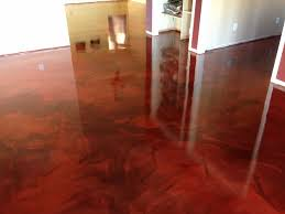 reflective flooring metallic epoxy interior installation in tucson