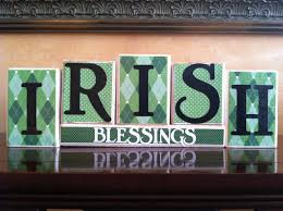 seasonal home decorations st patricks day home decor wood irish blessings blocks