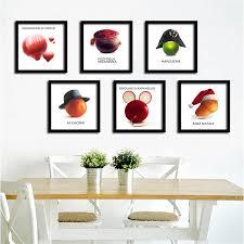 affiche cuisine creative toile peinture affiche fruits légumes sur toile mur