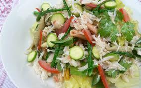 salicorne cuisine recette pasta salade tourteau salicornes et pourpier 750g